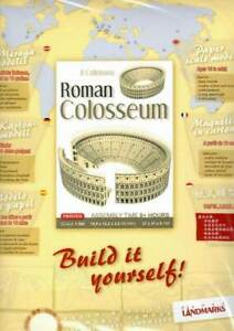 Roman Colosseum Paper Model Kit to Build Yourself - DIY Posterboard Pre-Printed