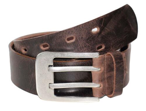 MGM Belt Herren Doppeldorn Gürtel Ledergürtel