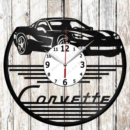 Chevrolet Corvette c6 Vinyl Wall Clock Made of Vinyl Record Original gift 2228