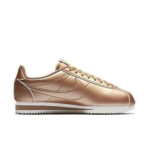 new product fe833 b0b97 Image is loading Womens-NIKE-CLASSIC-CORTEZ-LEATHER-Bronze-Trainers-807471-