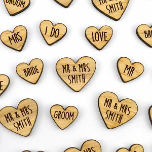 Personalised-MIXED-Heart-Shaped-Wooden-Rustic-Wedding-Table-Confetti-LOVE-Mr-Mrs