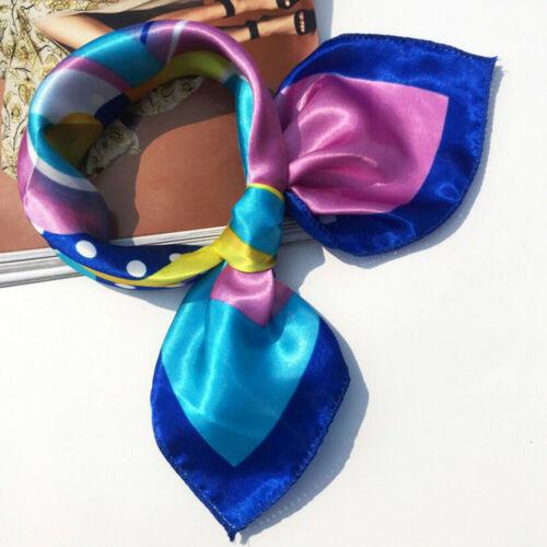 Women Ladies Square Head Scarf Wraps Scarves Printed Kerchief Neck Scarf Soft