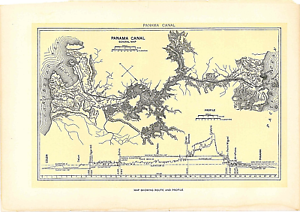 1902 Map Panama Canal General Map Dodd Mead & Co. 10\
