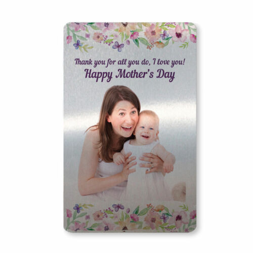 Metal Mothers Day Card Personalised Photo Gift For Your Mum Mummy Keepsake