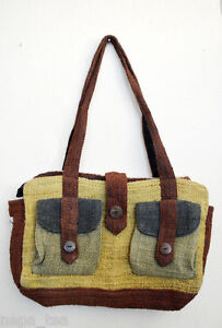 c1fced44bfd7 Messenger Hemp Ladies Bag Natural Fabric Dye colors Ladies Cotton ...
