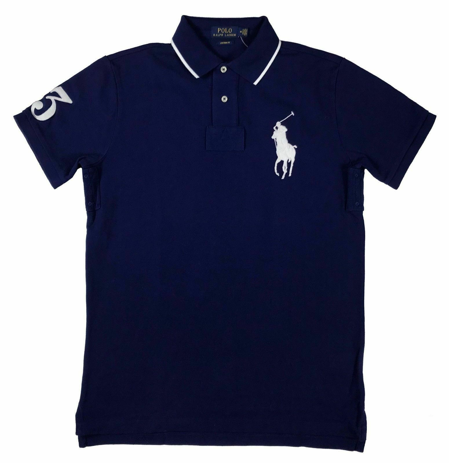 Lot of  6  NEW RALPH LAUREN CUSTOM FIT  BIG pony POLOs - M size