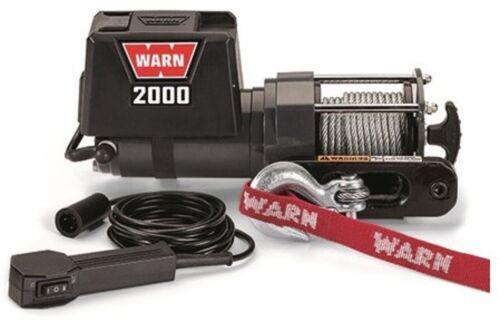 Warn 92000 Trailer Utility Winch 2000 LB 12 Volt DC Light Duty Compact Boat