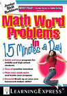 Math Word Problems in 15 Minutes a Day by Learning Express Llc (Paperback, 2009)