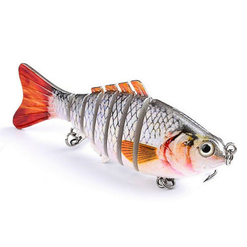 Fishing Bait Fish Lure Crankbait Hooks 10cm Multi-joint Segment Swimbait Lures