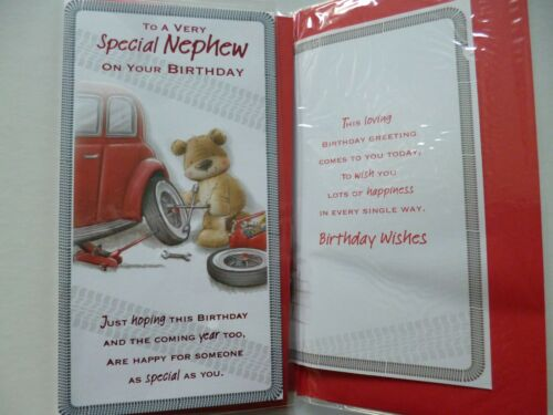 NEPHEW BIRTHDAY 6 GREAT CARDS TO CHOOSE FROM