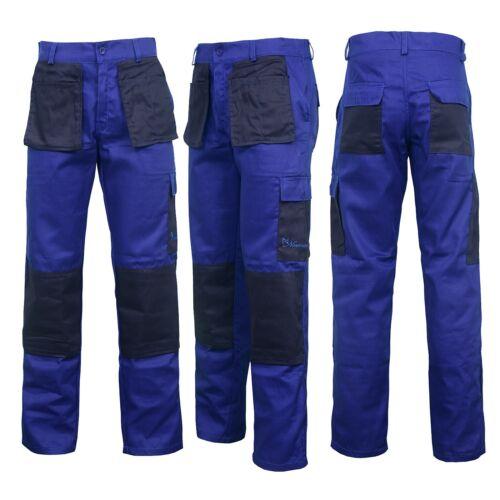 Royal Blue Work Wear Trousers Pants Knee Pad Pockets Men/'s Cargo Pockets Cargo