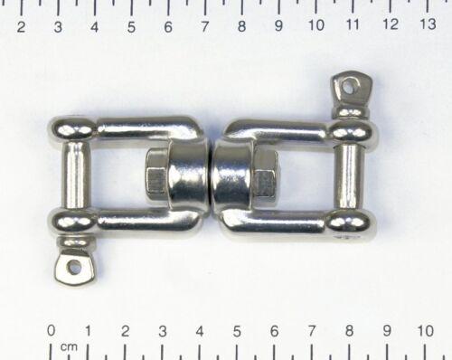Gabel // Gabel Wirbelschäkel Kettenwirbel Wirbel Edelstahl V4A M8,Ankerwirbel