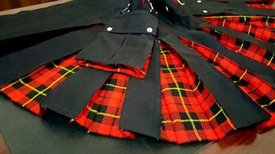 Black Cotton /& Grey Tartan Tactical Modern Fashion New Kilts