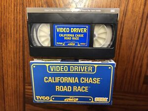 Vintage-SEGA-Tyco-Video-Driver-California-Chase-Road-Race-VHS-Video-Tape-Game