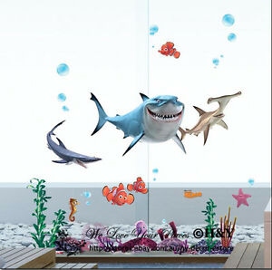 Image Is Loading Disney Finding Nemo Wall Decal Removable Sticker Kids