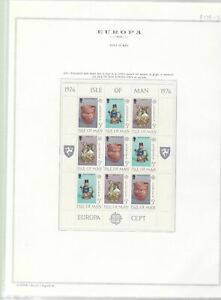 ISLE OF MAN  , TWO MINT NEVER HINGED STAMPS SHEETS.   REF 999
