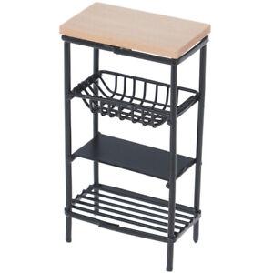 1-12-Doll-House-Miniature-Mini-Black-Kitchen-Side-Cabinet-Display-She-PT