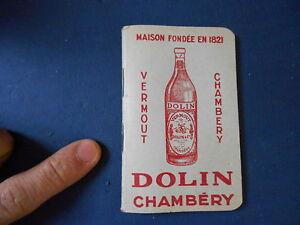 Ancien-Petit-Carnet-Publicitaire-Vermout-Dolin-Chambery-Alcool-Publicite-Livret