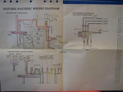 nos yamaha factory wiring diagram 1986 xvz13 da xvz13 dsc audio venture air   ebay