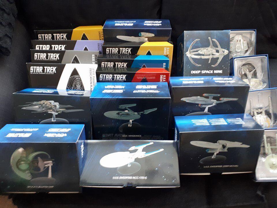 Star trek eaglemoss offerte speciali & plaques iss enterprise j tos (ds9 e