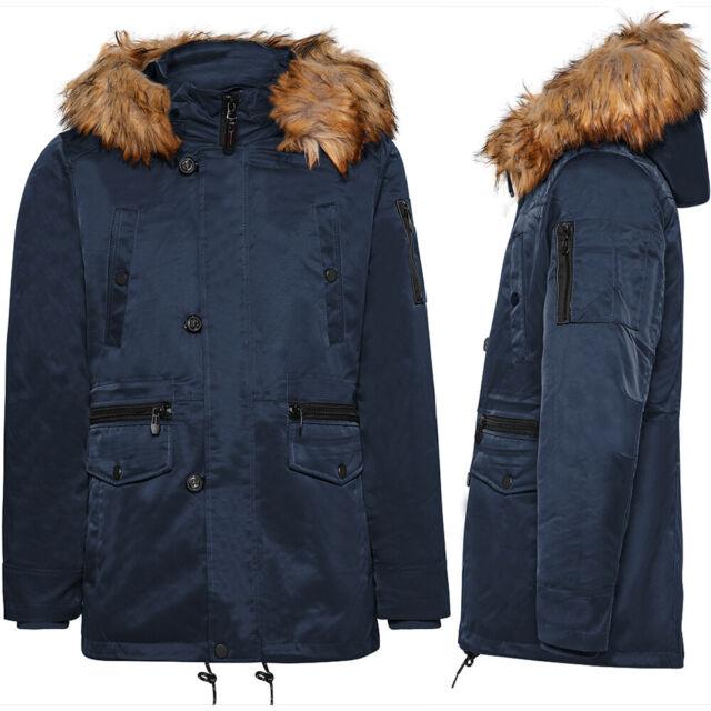 Manteau homme TWIG Field Parka L309 veste capuche fourrure