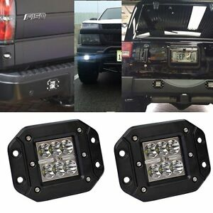 CA-2-Dually-Flush-Mount-24W-CREE-LED-Pod-Lights-For-Truck-Jeep-Off-Road-ATV