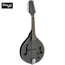 Stagg M50 E WH Acoustic-Electric Bluegrass Mandolin-White