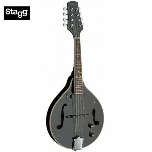 Black Stagg M50 E Premium A Style Bluegrass Acoustic Electric Mandolin New