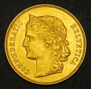1893-Switzerland-Confederation-Gold-20-Francs-20-Franken-Coin-6-45gm