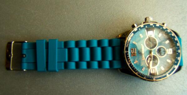 Armband-uhr (neu) Mit Batterie -tachymeter Quartz (gummiarmband) Modernes Design
