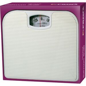 130KG-BATHROOM-SCALE-WEIGHING-BODY-WEIGHT-MECHANICAL-HOME-LOSE-FAT-DIAL-WHITE
