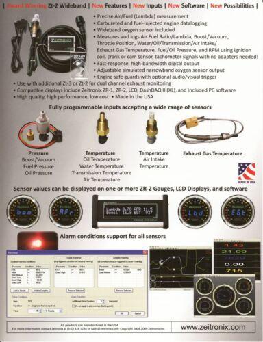 Zeitronix Pression Capteur BOOST Pressure 3,5bar 50psi pour zt-2 Lambda Outil Pression