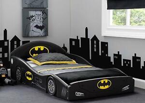 Toddler-Bed-Kid-Frame-Child-Bedroom-Furniture-Boy-Girl-Batman-Batmobile-Safety
