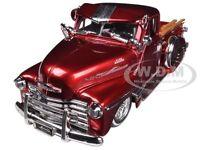 1951 Chevrolet Pickup Truck Lowrider Red 1/24 Diecast Model By Jada 96802