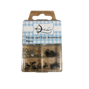 Hooks And Eyes Assortment 18 Pieces In A Reusable Box Haberdashery By Archer