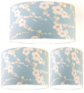 Lampshade Handmade With Laura Ashley Lori Duck Egg Blue Floral