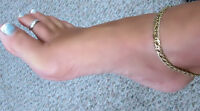 Class High Quality 24 Karat Gold Electroplate Anklet Bracelet Garantee Finish