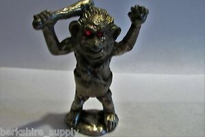 Pewter Troll Figurine Elf Gnome Pixie 3 1/2 inches Tall