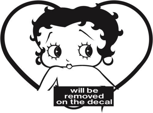 Betty Boop Sticker Autocollant Vinyle toutes les couleurs-Betty 028