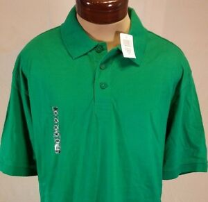 NWT-Champs-Sports-Kelly-Green-Polo-Short-Sleeve-3-Button-Shirt-Size-2XL