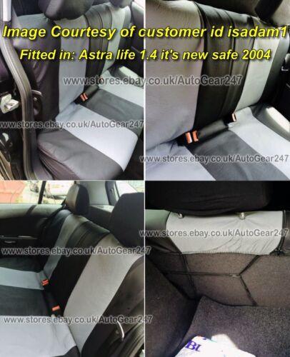 Alaska Negro GRIS Aspecto de Cuero Bolsa de aire trasero dividido amigable Completo cubiertas de asiento de coche
