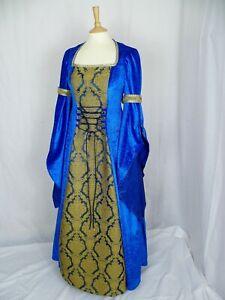 the latest 0867f 1118f Dettagli su Royal Blu e Oro Abito MEDIEVALE RINASCIMENTALE abito su misura  per le dimensioni- mostra il titolo originale
