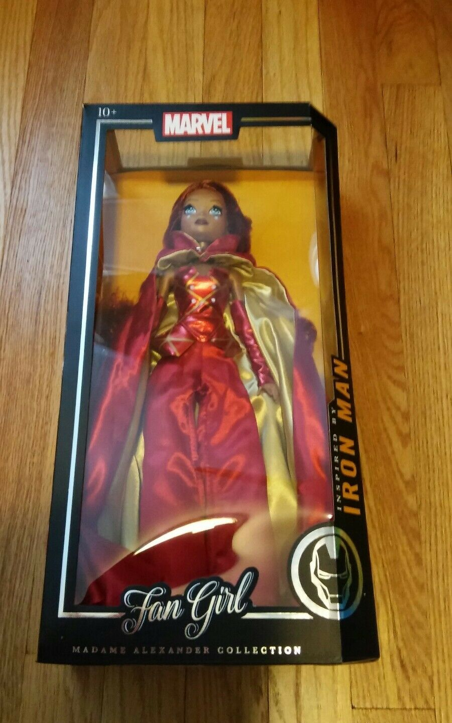 Marvel Fan Girl Iron Man inspired Madame Alexander doll 13.5 inch NiB