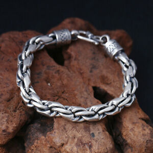 A07-Silver-Bracelet-925-Double-Anchor-Chain-20-CM