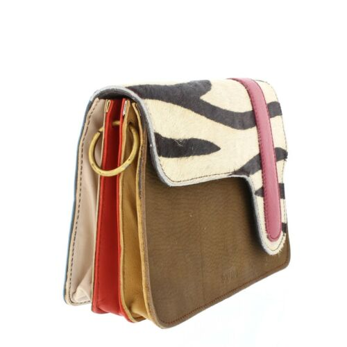 Recycled Contrasting Coloured Leather Handbag from Soruka Choice of Colours