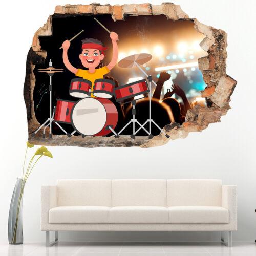 R249w Batterie BOY MUSIC Cartoon Cool Autocollants Muraux Chambre Filles Garçons Living Kids
