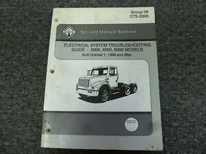 1999 International 2554 2574 2654 2674 Truck Electrical Wiring Manual Book Ebay
