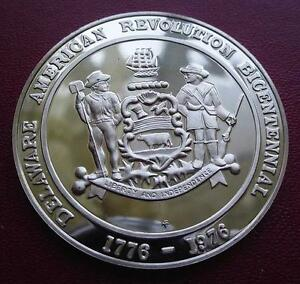DELAWARE-OFFICIAL-BICENTENNIAL-Medal-STERLING-SILVER-PROOF-UNCIRCULATED