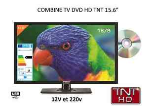 Combine-TV-tnt-HD-DVD-16-039-039-39-CM-HDMI-USB-pour-camping-car-12-v-220-v