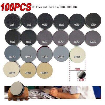 100pcs 2 Inch 1000 Grit Sanding Disc Sanding Polishing Pad Sandpaper Disc